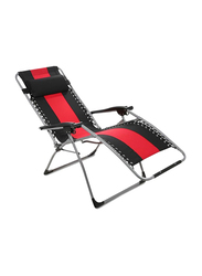 Homework's Folding Chair with Headrest, Red/Black