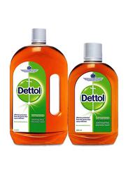Dettol Anti Bacterial Antiseptic Disinfectant Liquid, 2 Liter + 500ml