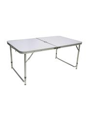 Foldable Table, 120 x 70cm, White/Silver