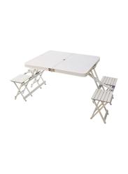 Portable Foldable Table, White