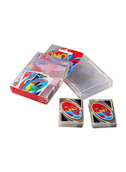 Beauenty 108-Pieces Uno H2O Pvc Waterproof Clear Table Cards Game