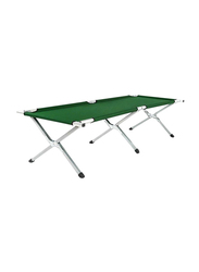BJM Foldable Outdoor Bed, Green/Silver