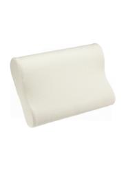 Memory Foam Cotton Pillow, White