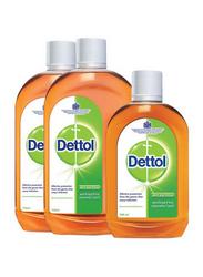 Dettol Antiseptic Disinfectant Liquid, 2 Bottles x 750ml + 1 Bottle x 500ml