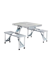 Folding Chair and Table Set, Silver
