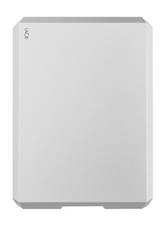 LaCie 5TB HDD Mobile Drive External Portable Hard Drive, USB-C/USB-A to USB-C Cables, STHG5000400, Moon Silver