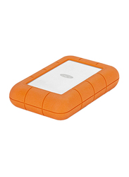 LaCie 4TB HDD Rugged Raid Pro External Portable Hard Drive, USB-C, Integrated SD Card Reader, with USB-C to USB-C/USB-A Cables, STGW4000800, Orange