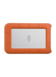 LaCie 4TB HDD Rugged Mini External Portable Hard Drive, Micro USB 3.0, Rubber Sleeve Protection, with Micro USB 3.0 Cable, LAC9000633, Orange