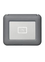 LaCie 2TB HDD DJI Copilot Boss External Portable Hard Drive, USB-C, Integrated Status Screen/SD Card Slot, with USB-C Drive to Laptop & Mobile Connection Cables, STGU2000400, Grey