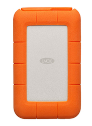 LaCie 1TB SSD Rugged External Portable Hard Drive, USB-C, Integrated Thunderbolt Cable, with USB-C to USB-C/USB-A Cables, STFS1000401, Orange