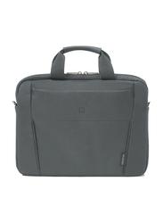 Dicota Slim Case Base 13-14.1-inch Messenger Laptop Bag, Grey