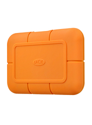 LaCie 2TB SSD Rugged External Portable Hard Drive, with USB-C/USB-A to USB-C Cables, STHR2000800, Orange