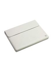 Dicota Leather 10-inch iPad Sleeve Laptop Bag, White