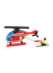 Inpro Solar Red Helicopter with Solar Rotor Blades and Lego Kids, Ages 12+