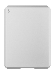 LaCie 2TB HDD Mobile Drive External Portable Hard Drive, USB-C/USB-A to USB-C Cables, STHG2000400, Moon Silver