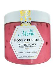 Merw Honey Fusion White Honey with Raspberry, 500g