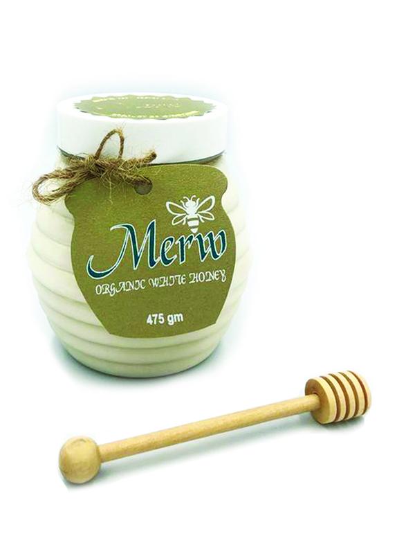 Merw Honey Organic White Honey, 475g
