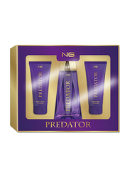Next Generation Perfumes 3-Piece Predator Gift Set for Women, 100ml Shower Gel, 100ml Body Lotion