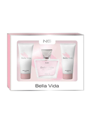 Next Generation Perfumes 3-Piece Bella Vida Gift Set for Women, 80ml EDP, 100ml Shower Gel, 100ml Body Lotion