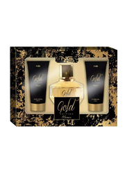 Next Generation Perfumes 3-Piece Gold Edition Gift Set for Women, 90ml EDP, 100ml Shower Gel, 100ml Body Lotion