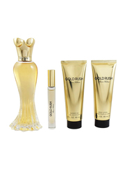 Paris Hilton 4-Piece Gold Rush Gift Set for Women, 100ml EDP, 6ml Mini EDP, 90ml Body Lotion, 90ml Shower Gel