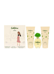 Cabotine 3-Piece De Gres Gift Set for Women, 100ml EDT, 100ml Shower Gel, 100ml Body Lotion
