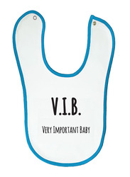 Cheeky Micky V.I.B. Very Important Baby Printed Bib for Boys, White