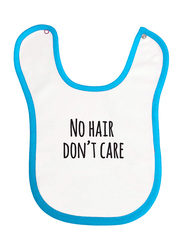 Cheeky Micky No Hair Don't Care Printed Bib for Boys, White