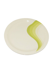 RoyalFord 11-inch Melamine Ware Super Rays Round Dinner Plate, RF8078, Mint Green/White