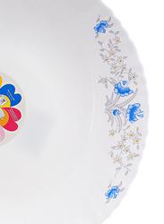 Royalford 10.5-inch Elegant Floral Design Opal Romantic Dinner Plate, RF5678, White