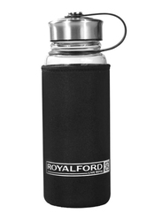 RoyalFord 500ml Boro Silicate Glass Water Bottle, RF9694, Black