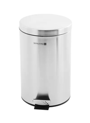 RoyalFord Stainless Steel Pedal Bin, 20 Liters, Silver