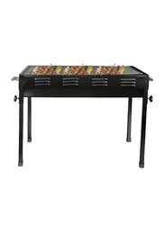 RoyalFord Flexible Metal Barbecue Grill with 2 Piece Mesh Rack, RF8097, Black
