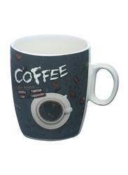 Delcasa 8oz New Bone China Bullet Coffee Mug, DC1438, Green/White