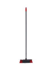 Delcasa Broom Brush with Handle, Grey/Red