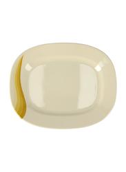 Royalford 12-inch Super Rays Melamine Ware Oval Dinner Plate, RF8050, Orange/Cream