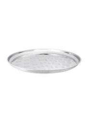 Royalford 12.4cm Swirl Pattern Stainless Steel Serving Platter, RF7454, Silver