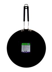 RoyalFord 30cm Hard Anodized Advance Glossy Iron Tawa, RF7904, Black