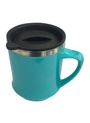 Delcasa 450ml Stainless Steel Travel Mug, DC1673, Blue/Black