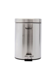 RoyalFord Stainless Steel Pedal Bin, 5 Liters, Silver