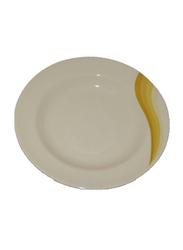 RoyalFord 9-inch Melamine Ware Super Rays Round Deep Plate, RF8043, Orange/White