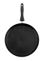 RoyalFord 27cm Aluminium Non-Stick Deluxe Smart Tawa, RF7459, Black