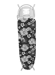 RoyalFord Mesh Ironing Board with Attached Cloth Rack & Height Adjustment, RF366IBM, Black/White