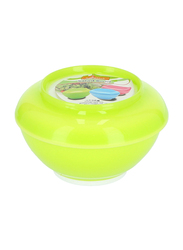 Royalford 320ml Plastic Salad Bowl with Lid, RF6965, Green