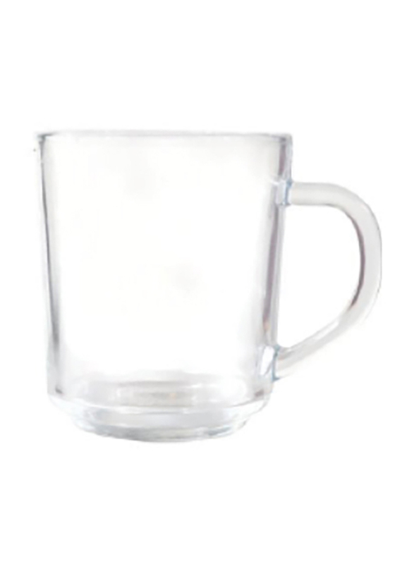 Delcasa 3-Piece Glass Cup with Handle, DC1276, Clear