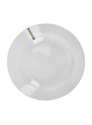 Royalford 9-inch Magnesia Porcelain Deep Serving Plate, RF7994, White