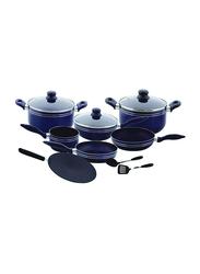 RoyalFord 12-Pieces Non-Stick Cookware Set, RF5858, Black