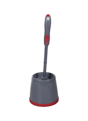Delcasa Toilet Cleaning Brush, DC1611, Grey/Red