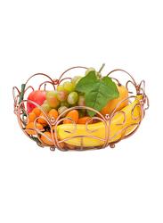 RoyalFord Stainless Steel Round Fruit Basket, RF9440, Rose Gold