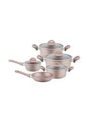 RoyalFord 9 Piece Smart Forged Aluminum Cookware Set, RF9555, 61x40x21, Beige
